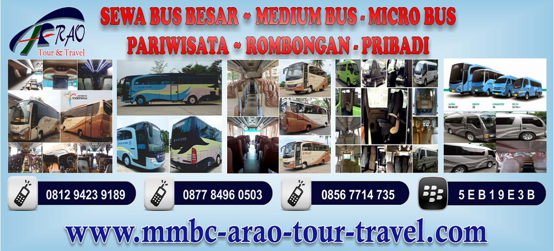 Sewa Bus Besar, Medium Bus dan Micro Bus untuk Pariwista dan Rombongan via MMBC ARAO Tour and Travel