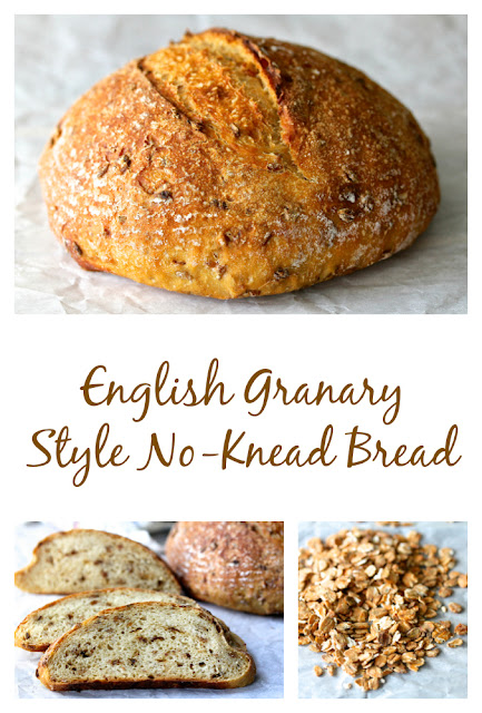 English Granary-Style No Knead Bread