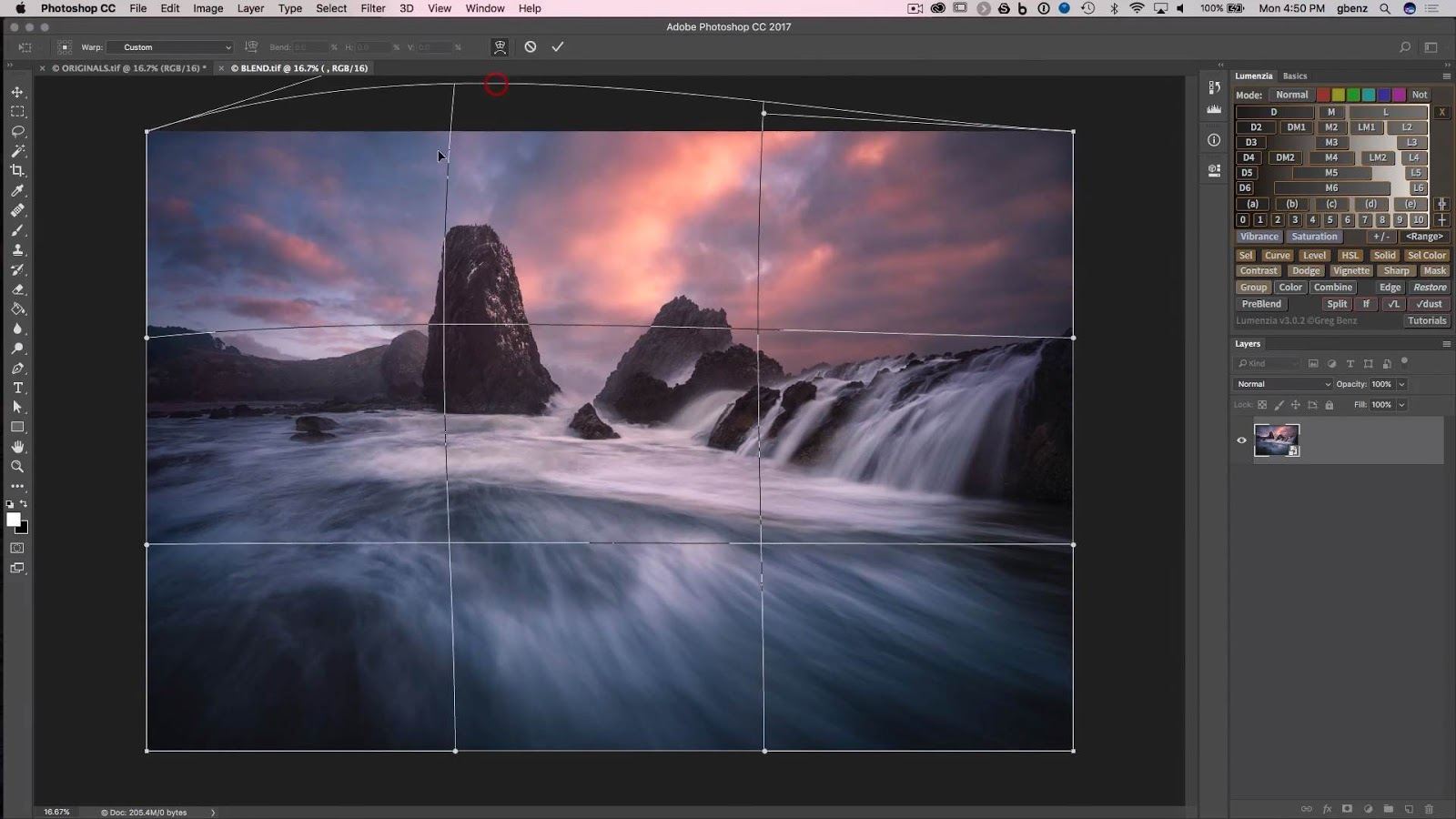 How to use Perspective Warp to enhance landscapes