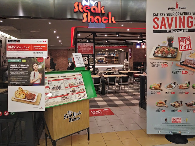 Satisfy cravings di NY Steak Shack One Utama, Menu western di One Utama, Western Restaurant di One Utama