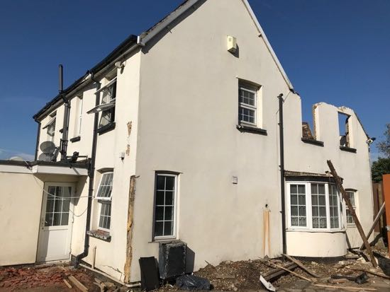 Demolition of the Swan, October 2018 Image courtesy of Mabel Hammett