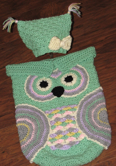 Creative Crochet by Becky: Crochet Baby Owl Cocoon with ...