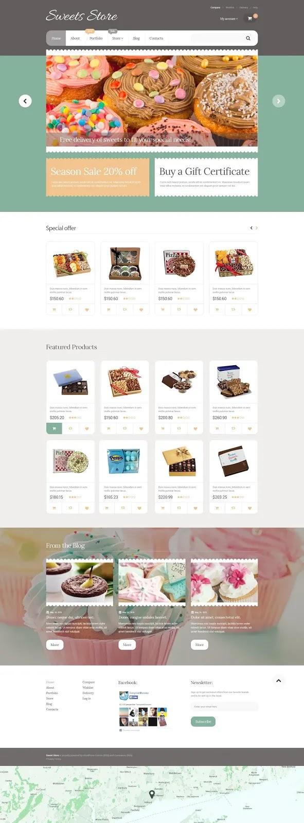 Yummy Sweets Shop WooCommerce Theme