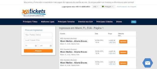 Site para comprar ingressos para o Miami Open