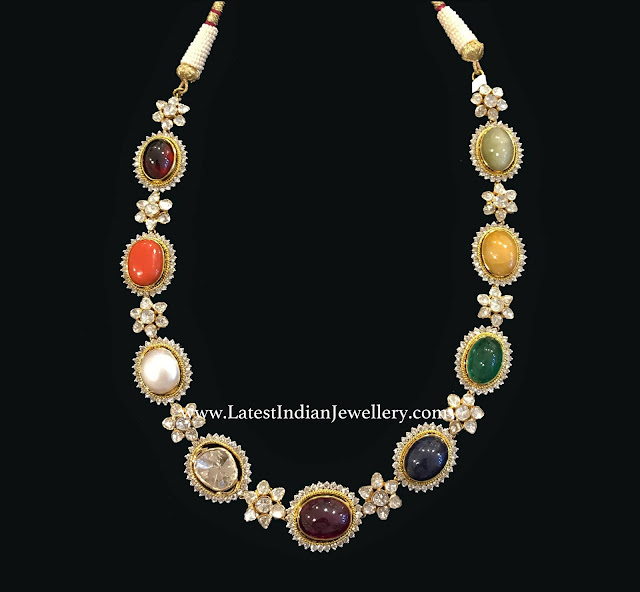 Single Row Navarathan Necklace