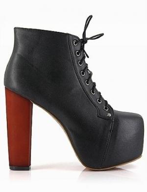 1c5d2d0287d6 ZENA Black Platform Ankle Boot by Jessica Buurman