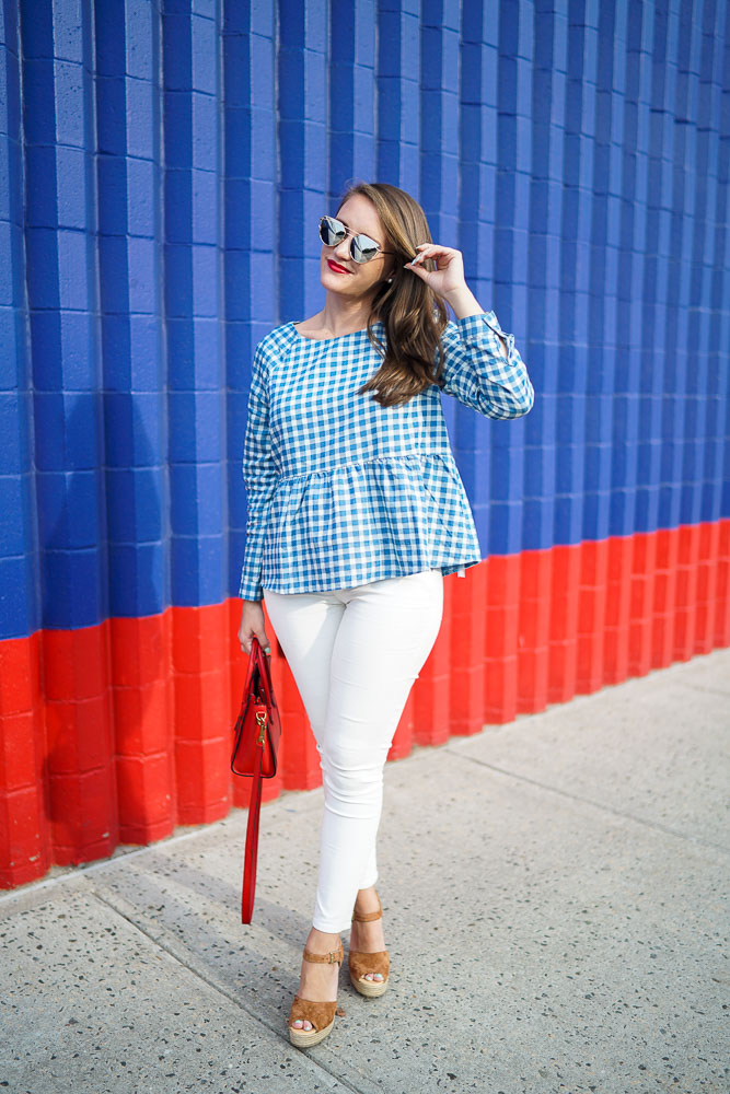 White Jeans, what to wear for the 4th of July