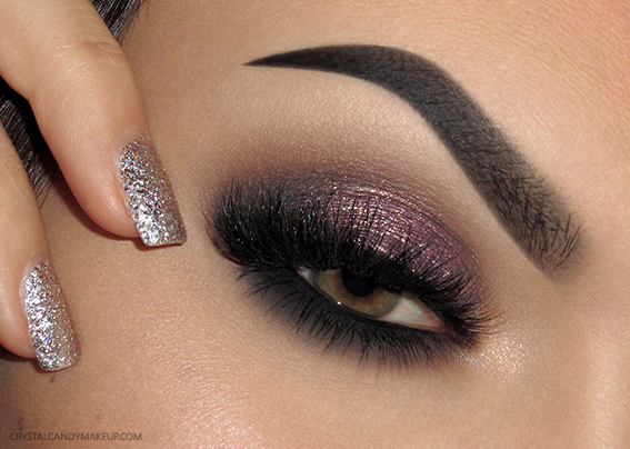 Eye Makeup Look Sparkly Plum Too Faced Love Palette Blinking Beauté Samantha OPI Starlight