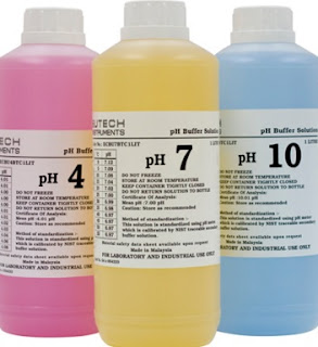 pH meter calibration - Buffer solution