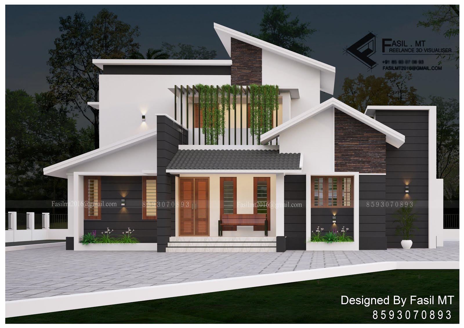 KERALA HOME DESIGNS AND PLANS: 1600 sqft Modern Stylish Home