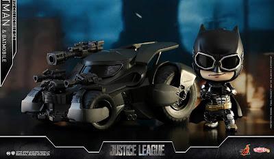 Justice League Movie Batman & Batmobile Cosbaby Collectible Set by Hot Toys