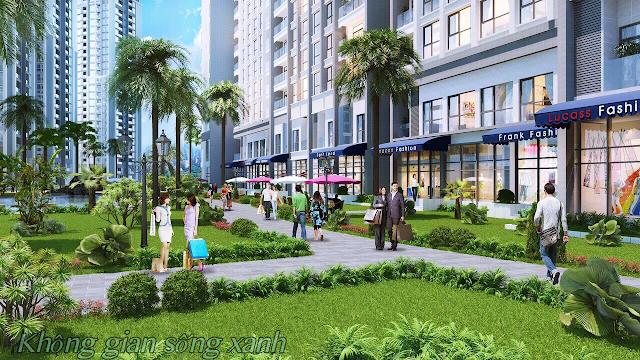 Không gian sống xanh tại Golden Square Đà Nẵng