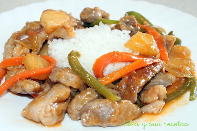 Cerdo agridulce chino. Julia y sus recetas