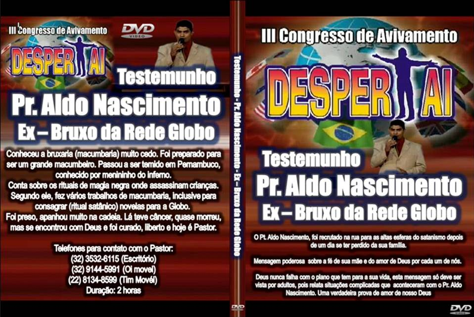dvd do testemunho pastor aldo nascimento ex-bruxo