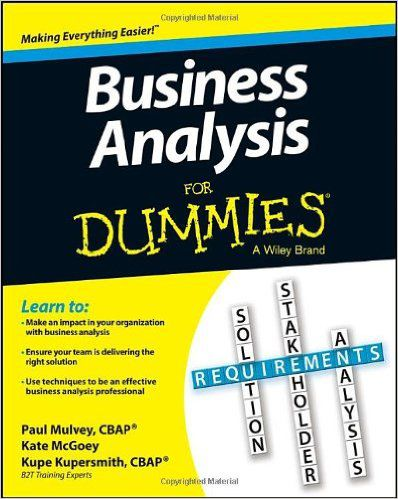 Business Ysis For Dummies