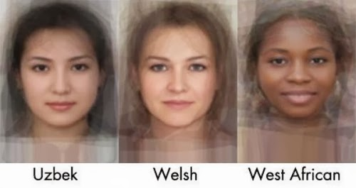 The Average Women Faces from 40 Different Nationalities - Countries