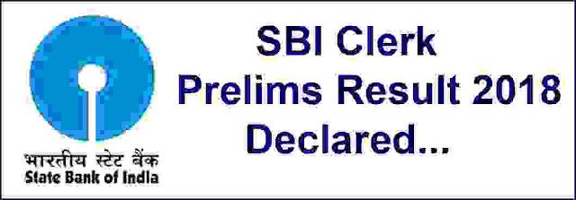 sbi clerk exam result 2018