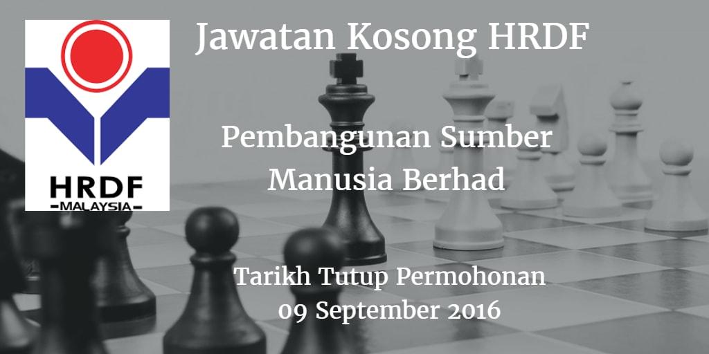 Jawatan Kosong HRDF 09 September 2016