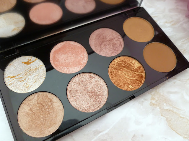 Makeup Revolution Ultra Blush And Contour Palette In Golden Sugar