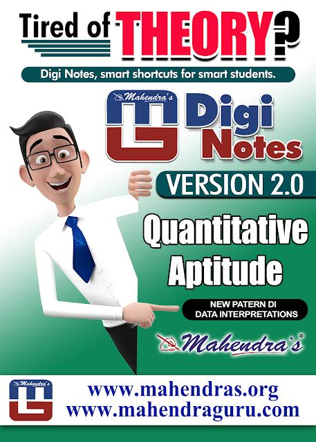 Digi Notes - 2.0 | New Patern Data Interpretations Questions PDF for IBPS PO  | 13.10.2017