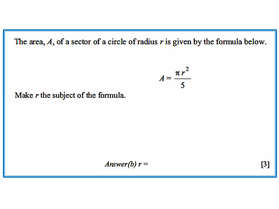 Transforming a Formula - CIE Math Solutions
