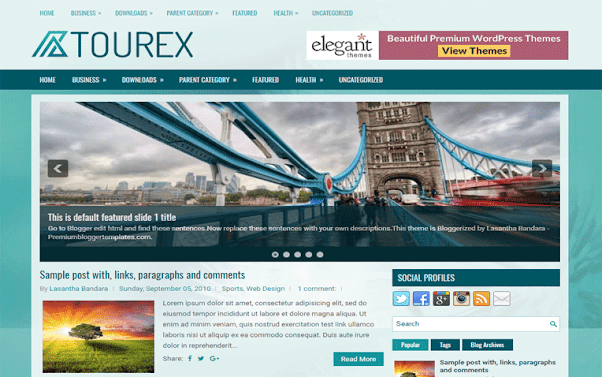 Tourex Free Blogger Template