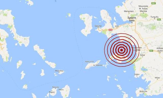 Παντού σεισμοί! Δυνατός σεισμός TΩΡΑ βόρεια της Σάμου