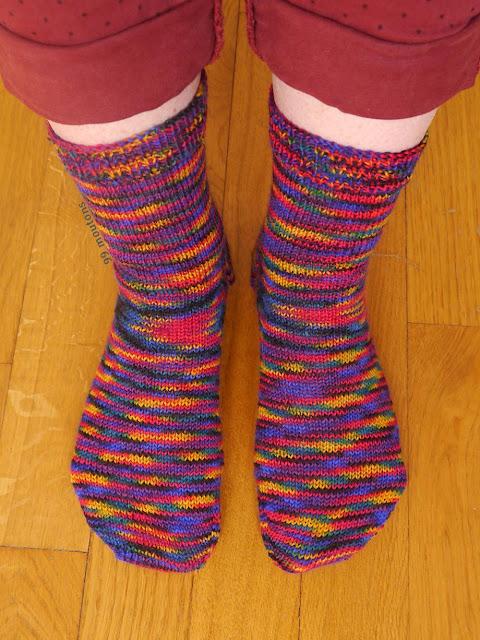 chaussettes simples tricotées en jersey