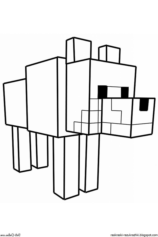 майнкрафт животные раскраска #7