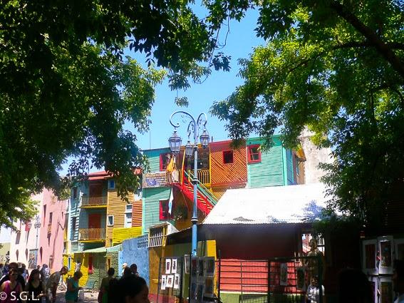 Calle caminito en Buenos Aires, Argentina