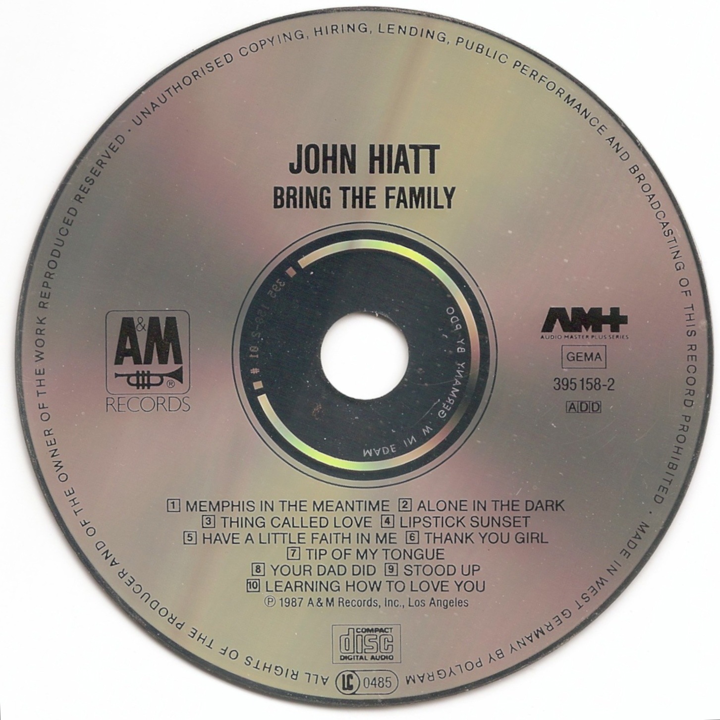 The First Pressing CD Collection: John Hiatt - Bring the ...