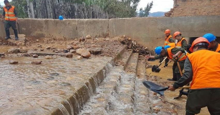 El lunes 11 se reinician las clases en colegio militar de Cajamarca afectado por lluvias