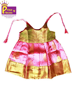 New born kids Girls Silk frock pattu pavadai langa