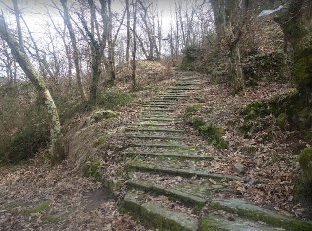 sentiero dal Colle del telegrafo a Biassa