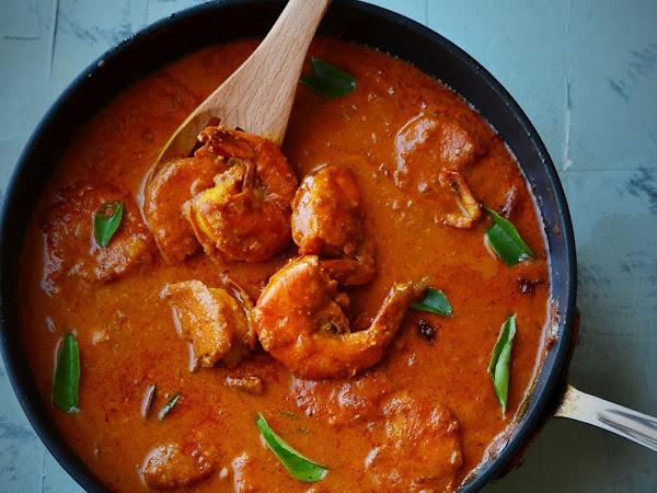 Goan Prawn Curry | Prawns Ambot Tik.