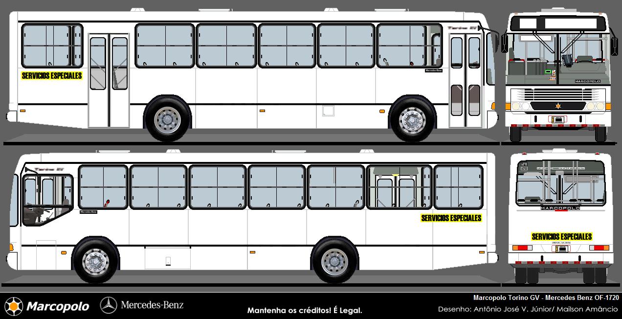 dise os de buses en blanco costa rica marcopolo urbano. Black Bedroom Furniture Sets. Home Design Ideas