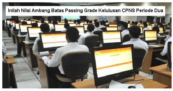 Inilah Nilai Ambang Batas Passing Grade Kelulusan CPNS Periode Dua Inilah Nilai Ambang Batas Passing Grade Kelulusan CPNS Periode Dua