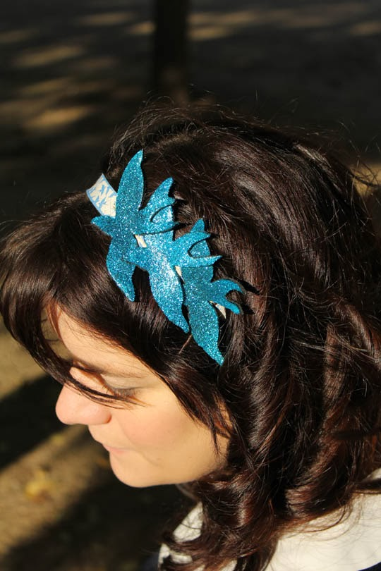 how to make a glitter headband