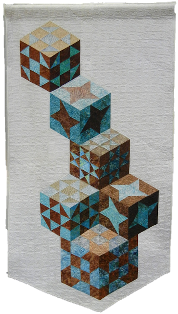 Quilt Inspiration Tumbling Blocks Revisited