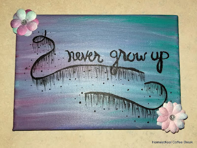 Never Grow Up on the Virtual Refrigerator art link-up hosted by Homeschool Coffee Break @ kympossibleblog.blogspot.com