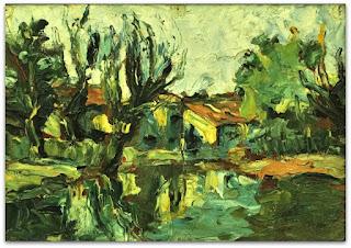Iberê Camargo - Paisagem (1941) - óleo sobre madeira