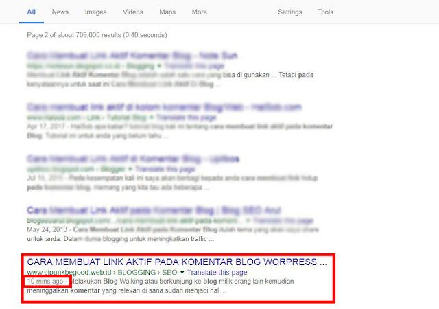 cara agar blog cepat terindex google terbaru