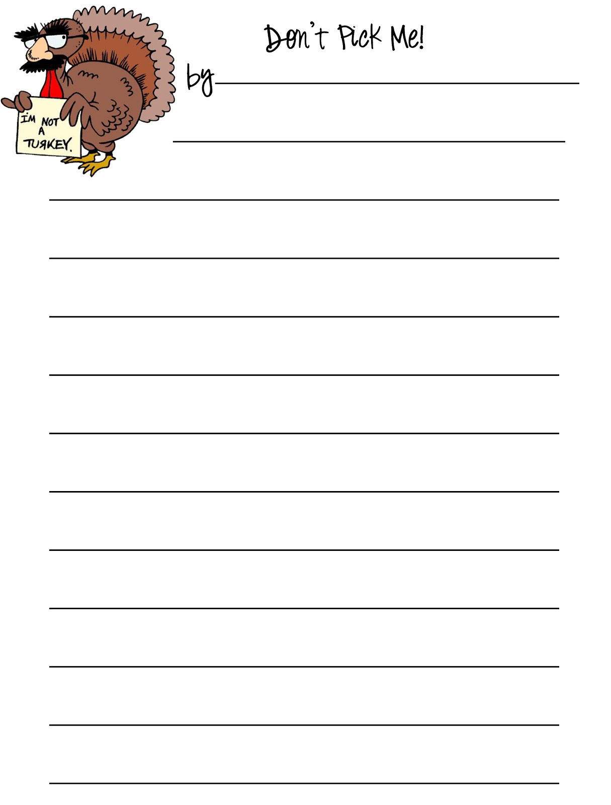 Free Thanksgiving Writing Worksheet