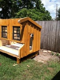 Chicken Coop automatic door pre-installed