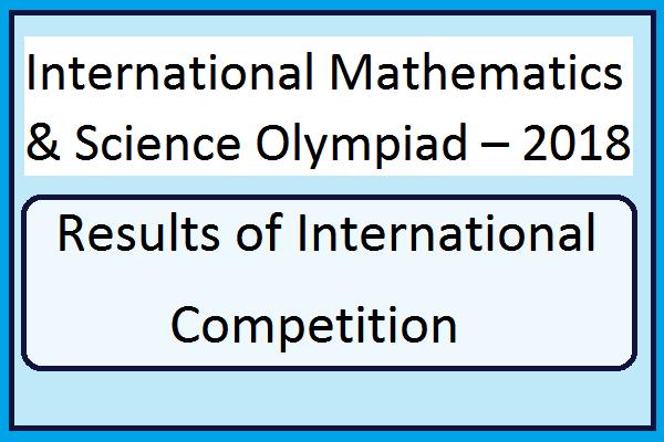 International Mathematics & Science Olympiad – 2018 Results