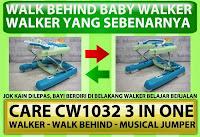 Walk Behind Baby Walker CARE CW1032 3 in One Walker, Walk Behind and Musical Jumper - Blue