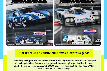 Hot Wheels Car Culture 2018 Mix 5 : Circuit Legends