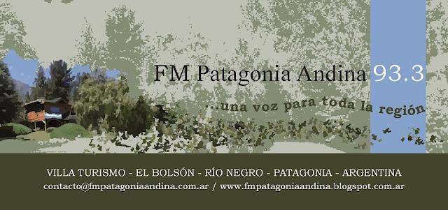 FM 93.3, FM PATAGONIA ANDINA, PATAGONIA, ANDINA, 93.3, RADIO, EL BOLSON, LAGO PUELO, EL HOYO, RIO NEGRO, CHUBUT, MEDIOS, COMARCA ANDINA,