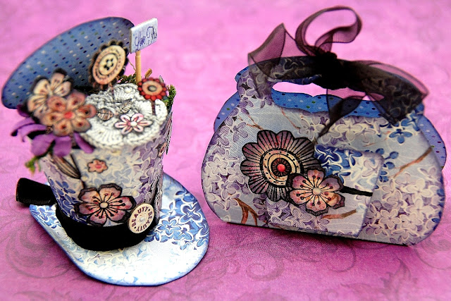 Party Hat and Bag by Irene Tan using BoBunny Secret Garden Collection