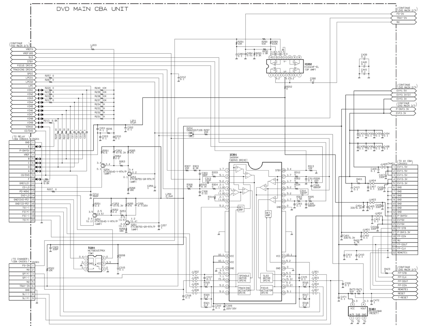 FL-DISPLAY SCHEMATIC